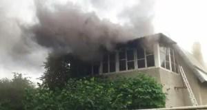 Утренний пожар в Симферопольском районе