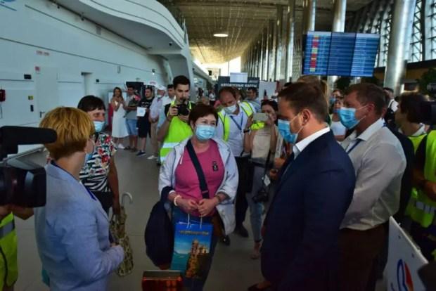 """Аэропорт """"Симферополь"""" встретил прямой рейс из Владивостока. Впервые"""