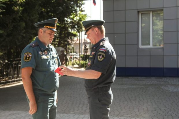 В Севастополе наградили сотрудников Главного управления МЧС России по городу