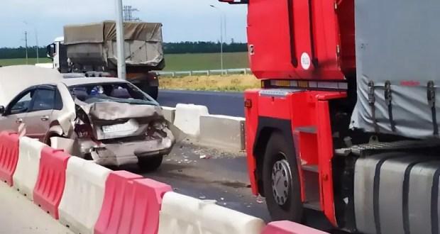 Массовое ДТП на трассе «Симферополь – Джанкой»: разбиты шесть автомобилей, пострадали два человека