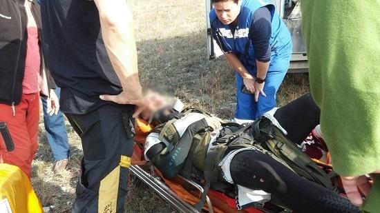 На ЮБК, в районе Нижней Кутузовки с десятиметровой высоты упал парапланерист