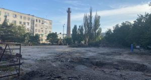 В Евпатории благоустраивают общественные территории