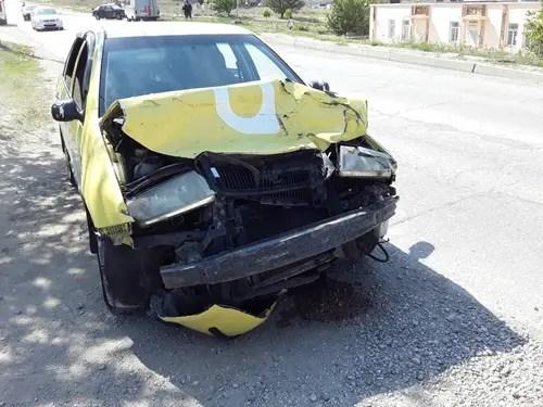 ДТП в Феодосии: не разминулись «девятка» и «Skoda»