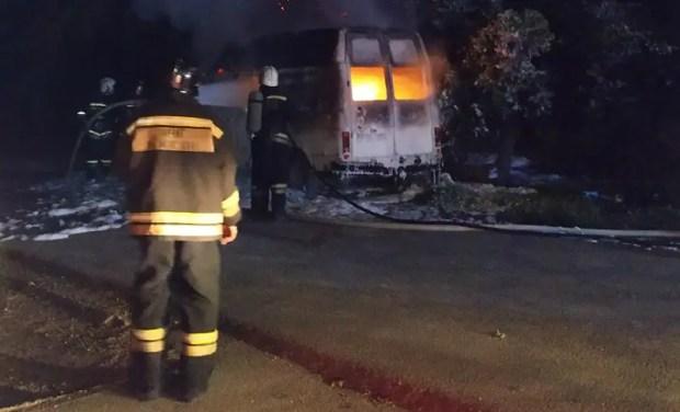 Ночной автопожар в Севастополе. Поджог – основная версия
