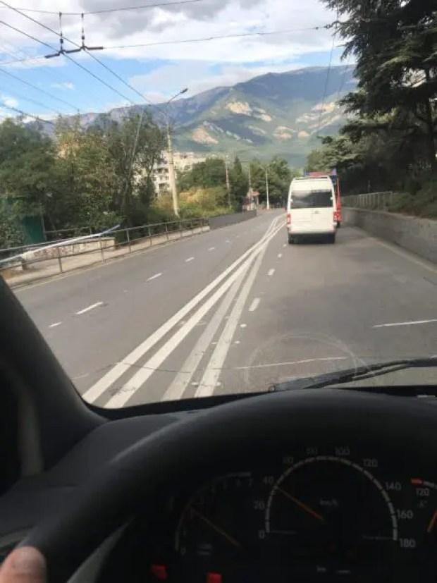 Дорожная разметка на некоторых участках трассы «Симферополь – Ялта» будет изменена
