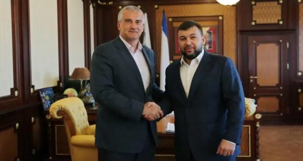 Сергей Аксёнов провел рабочую встречу с Главой Донецкой Народной Республики Денисом Пушилиным