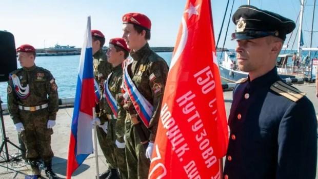 В Ялте стартовал патриотический яхтенный поход «Юнармейская Миля - 2020»