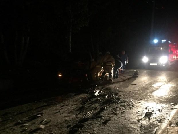 Ночное ДТП в Крыму. Автомобили вдребезги, пострадавшие есть