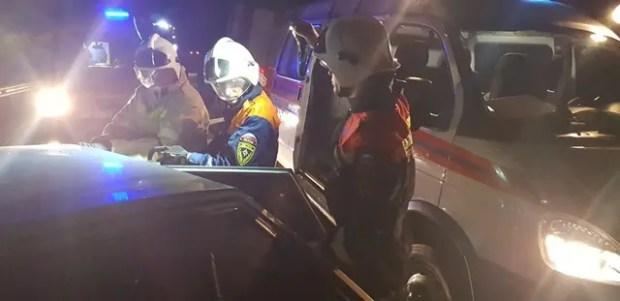 Спасатели дважды оказывали помощь в ликвидации последствий ДТП на «серпантине» «Алушта-Судак-Феодосия»