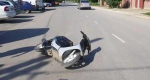 В Красногвардейском районе пострадал подросток - водитель мопеда. Виноват сам