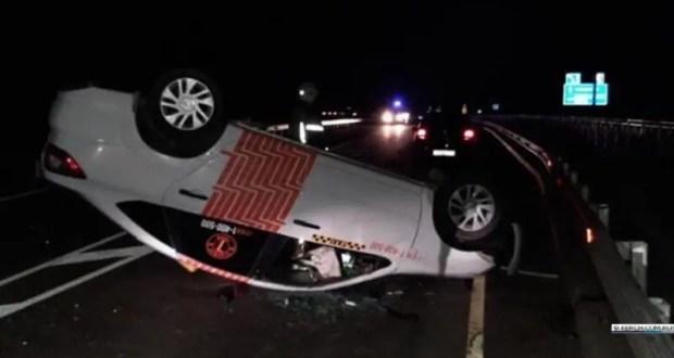 Ночное ДТП на дороге «Ленино – Красногорка»: LADA - «перевертыш»