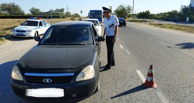 Госавтоинспекция провела «Контроль трезвости» в Евпатории