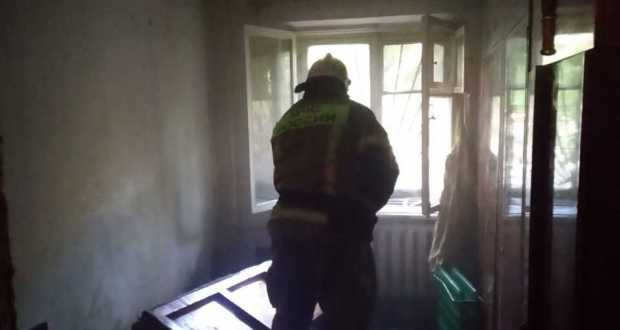 Пожар в Симферополе - спасён мужчина