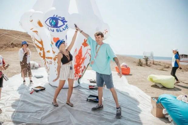Фестиваль «Таврида – АРТ» - это ещё и тренировки от олимпийских чемпионов, и 3D-объект из мегапазла