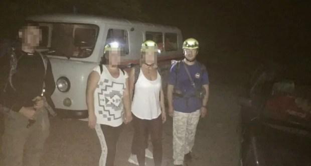 Спасательная операция в районе горы Аю-Даг