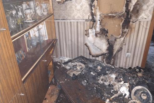 Ночной пожар в Симферополе: спасен 60-летний мужчина