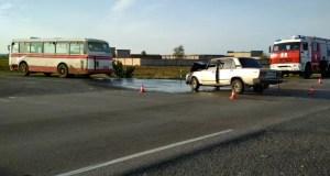 Утреннее ДТП под Севастополем: столкнулись автобус и ВАЗ