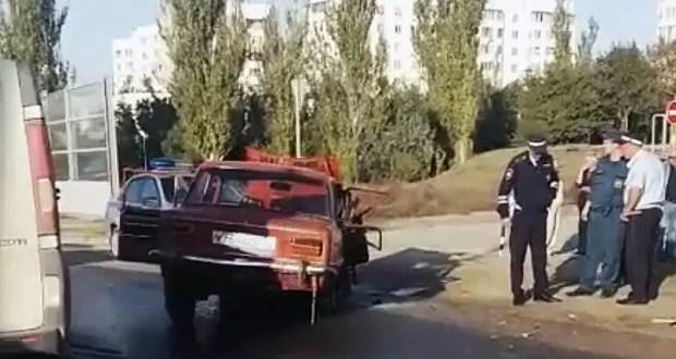 ДТП в Керчи: автобус столкнулся с «Жигулями». Двое пострадавших