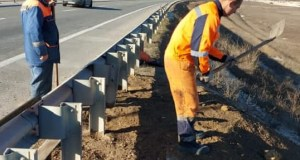 «Крымавтодор» устраняет последствия просадки грунта на трассе «Дубки – Левадки»