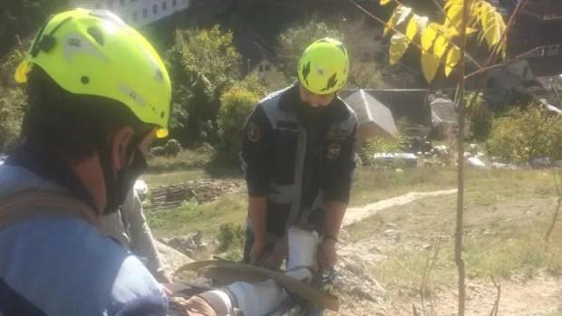 В Бахчисарайском районе скалолаз не справился с подъёмом по скалолазной тропе