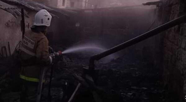 Ночной пожар в Бахчисарайском районе: работу МЧС осложнило отсутствие подъездных путей