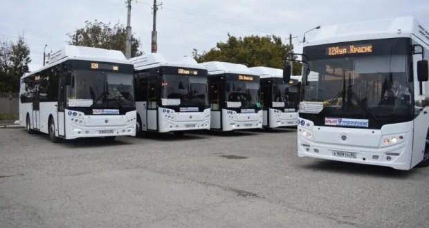 На дороги Симферополя вышла очередная партия новых автобусов