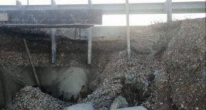 И еще одна часть обочины новой дороги «Дубки – Левадки» обвалилась
