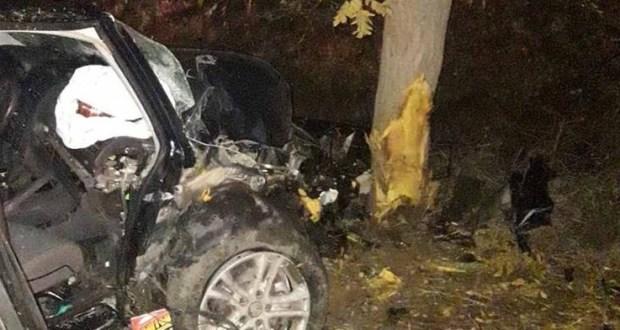 Ночное ДТП в Керчи: «Volkswagen» врезался дерево