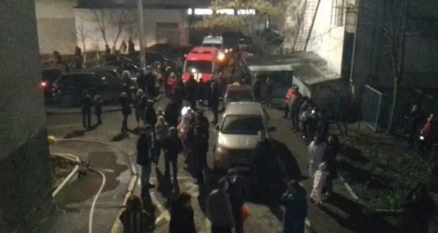 Пожар в Симферополе - подвела электрощитовая