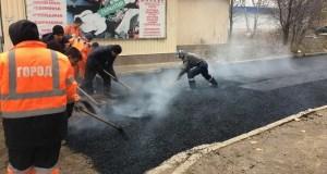 В Симферополе завершается ямочный ремонт дорог 2020 года