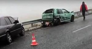 Гололедица на дороге и туман стали причиной ДТП на Симферопольской объездной