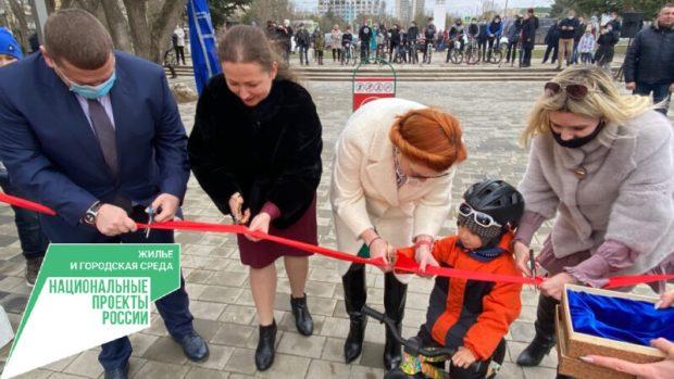 В Евпатории открыли обновленный Мойнакский парк