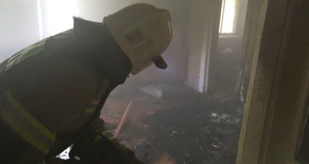 На пожаре в городе Саки спасена женщина