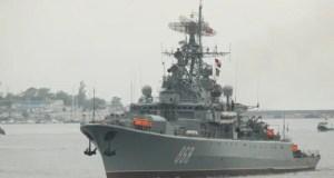 Сторожевик «Пытливый» ЧФ вышел в море для проведения учения с комплексами «Бал» и «Бастион»