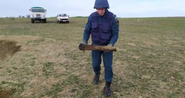 На востоке Крыма снова уничтожали боеприпасы времен Великой Отечественной войны