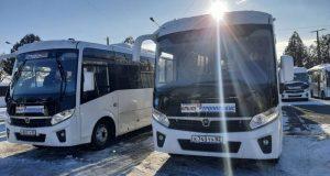 Восемь новых автобусов вышли на маршрут №49 в Симферополе