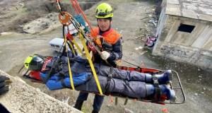 В Алуште спасатели провели тренировку по ликвидации последствий ЧС техногенного характера