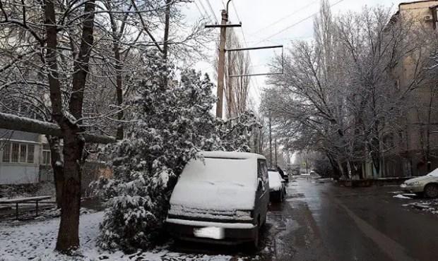 Мартовский снег в Крыму