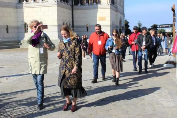 В Херсонесе состоялась экскурсия для слабовидящих и незрячих