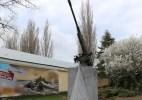 В Феодосии восстановили памятник – зенитное орудие в сквере 40-летия освобождения города