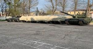 Военная техника, принимающая участие в Параде Победы, передислоцирована в Симферополь