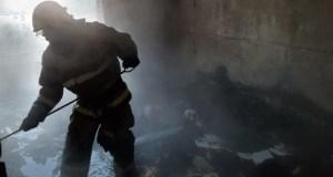 Субботний пожар в многоэтажке года Саки