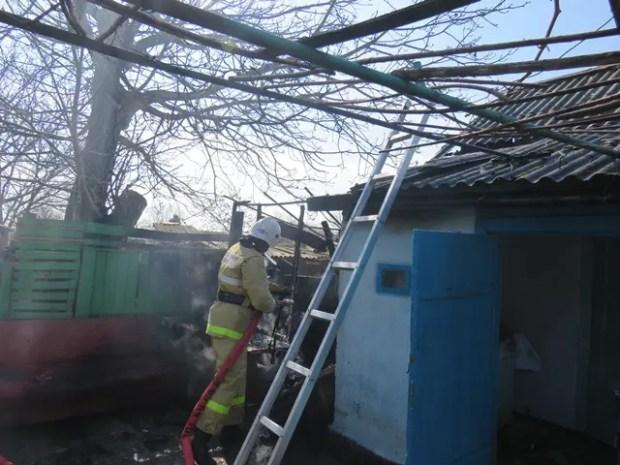 Пожар в с. Приветное Кировского района Крыма
