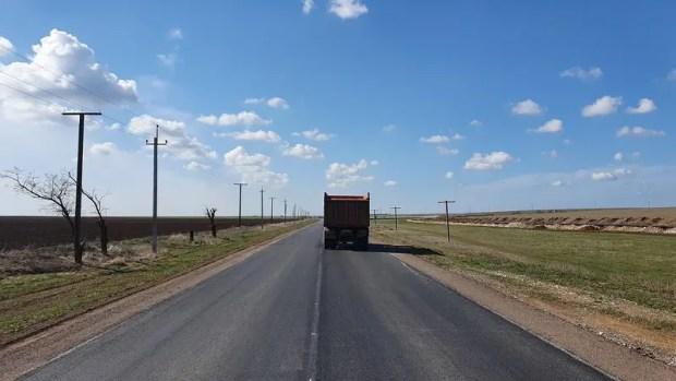 Участок дороги «Славянское – Евпатория» на западе Крыма готов на 95%