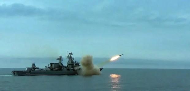 Ракетный крейсер «Москва» отстрелялся новым «Вулканом» в Чёрном море