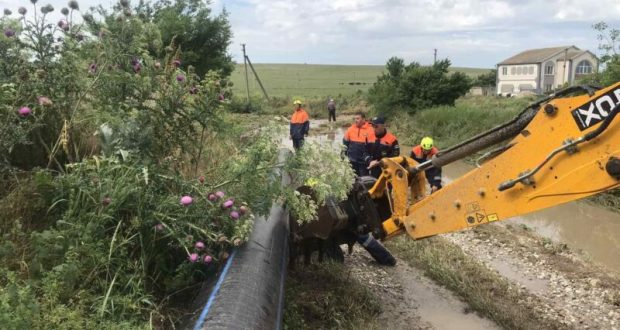 Работы по ликвидации последствий подтопления в с. Приозёрное Ленинского района Крыма завершены