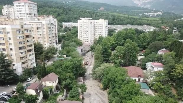 Информационная сводка о подтоплении в Керчи и Ялте (конец дня 28 июня)