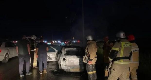 Автопожар в районе аэропорта Симферополя: сгорел легковой автомобиль