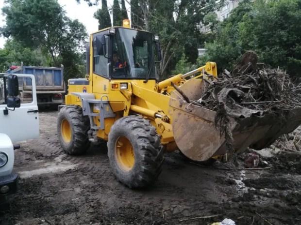 Как проводится дезинфекция в городах и поселках Крыма, пострадавшим от стихийного бедствия