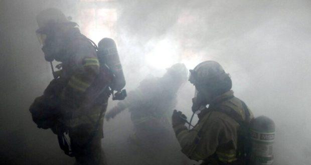 Утренний пожар в Симферополе: загорелся магазин